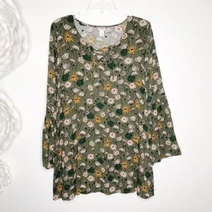 MOSSIMO SUPPLY Daisy Dress Bell Sleeve Lace up